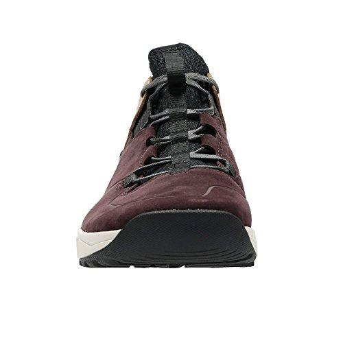 Clarks Adulte Sport Sport Homme Boots/Bottes Tri Track Rise En Daim Rouge Burgundy