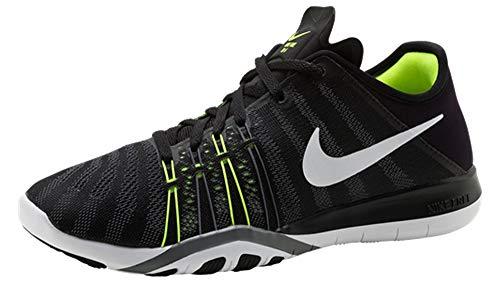 Nike Damen Laufschuh Wmns Free TR 6, Schwarz / Weiß-Volt-Cool Grey, 40.5 EU
