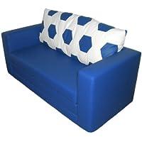 Preisvergleich für Sofa 2-sitzer im Fussball Design weiß blau