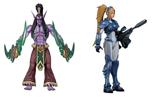 NECA /Blizzard - Heroes Of The Storm Serie 1 - 2er Set mit Illidan und Nova Deluxe Actionfiguren 18cm