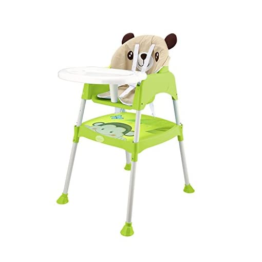 Smibie Baby High chair 3 in 1 Multi-use Feeding chair Booster seat Infant chair Dining chair with tray-Green 41gSIDmqbBL