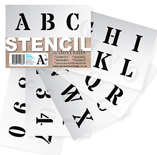 Letter Stencils 40mm Tall (1 57