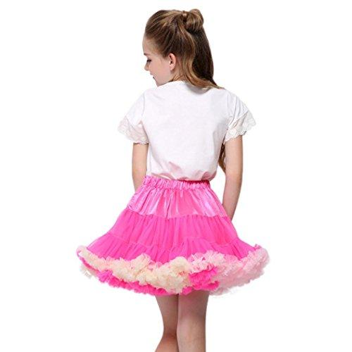 ind Baby Mädchen Net Garn Prinzessin Rock Hauch Rock TuTu Rock tütü Prinzessin Skirt Weihnachten Party Rock Weihnachtskostüm(3-4T/80-100CM,A-Hot Pink) (Chucks Outfits)