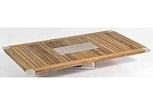 SonnenPartner Tischplatte Style Old Teak 90 x 90 made by Müsing Abmessungen: 90 x 90 cm Höhe Tischplatte: 30 mm Material Tischplatte: Old Teak Farbe: Old Teak Plattengewicht: 14 Kg Tischgestell: Ohne/ Nur Platte