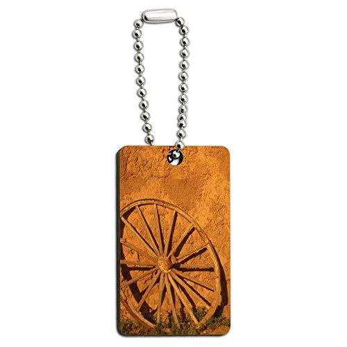 Preisvergleich Produktbild Western Wagon Rad – Fort Union Southwest New Mexiko Holz Rechteck Schlüssel Kette