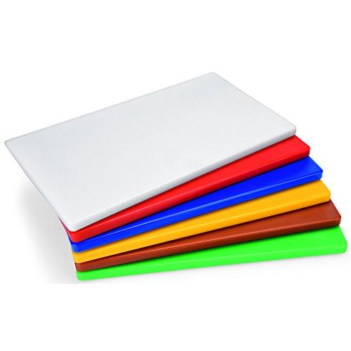 Schneidebrett weiß Kunststoff groß ca. 60 x 40 x 2 cm HACCP Gastro Qualität