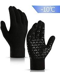 e5055e1353b290 JORYEE Touchscreen Handschuh Damen - Frauen Handschuhe Winter Touchscreen  Fäustlinge Warme Sporthandschuhe Rutschfest Strick Handschuh Rutschfest