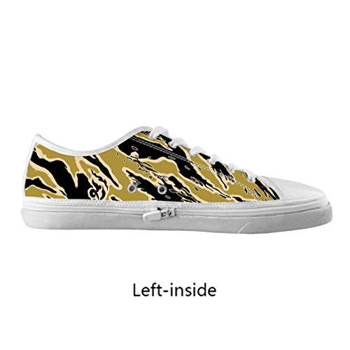 best website c4f93 2c4cc CHEESE Individuo di Custom uomini tela ziepper basso-top sneaker lacci  scarpe Flamingo immagine,