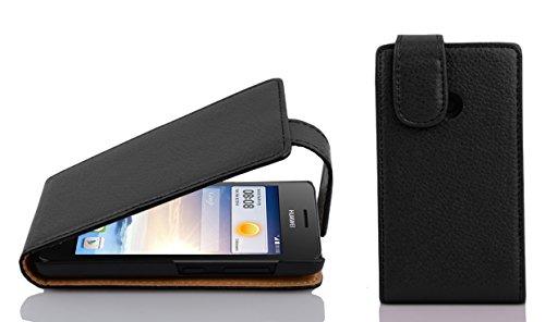 Cadorabo - Flip Style Hülle für Huawei ASCEND G330 - Case Cover Schutzhülle Etui Tasche in OXID-SCHWARZ