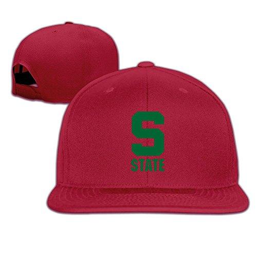 Nubia Michigan State Logo Hip Hop Krempe Snapback Cap Flat Bill Cap forestgreen, Herren, rot (Projektor Htc)