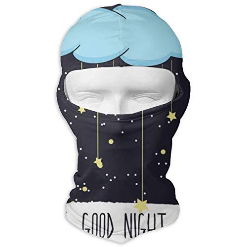Sitear Cartoon of Handzeichnung eines lächelnden personalisierten Vollgesichtsmaske Hood Neck Warm für Männer und Frauen Outdoor Sports Windproof Sunscreen