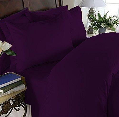 Eleganten Komfort 3-teilig 1500Fadendichte Ultra Weich Ägyptische Full/Queen Bettbezug Set, Pflaume violett -