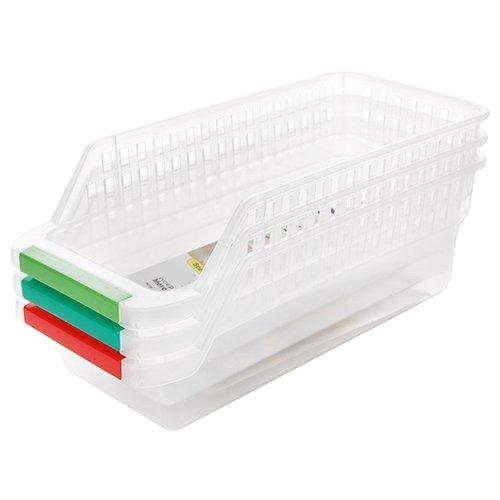yibenwanligod Küche Kühlschrank Organizer Space Saver Slide unter Regal Rack Halter Gefrierschrank Aufbewahrungsbox Korb Behälter (1Stück, zufällige Farbe) multi (Utility-organizer-box)