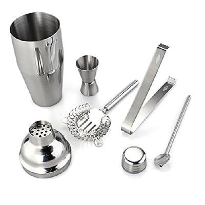 ITOMTE 5pcs 750ml acero inoxidable coctelera Jigger Mixer hielo Clip colador cuchara