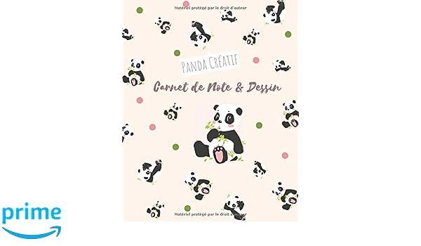 Panda Créatif Carnet De Note Et Dessin Kawaii Journal