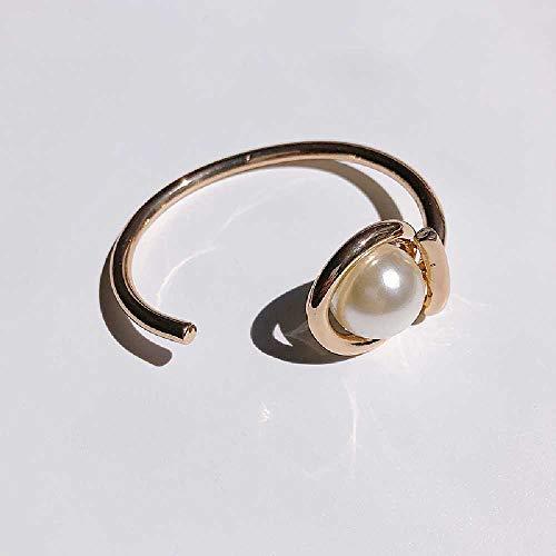 SDFGH Einfacher Wind, Offene Perlenkette, Elegantes Design, Perlenarmband, Persönlichkeit, Chic-Armringe, Schmuck. Gold.