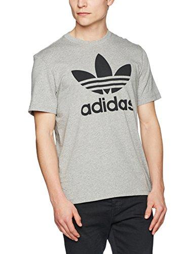 adidas Herren Original Trefoil T-Shirt, Medium Grey Heather, S (Adidas Kleidung)