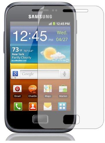 6 x Displayschutzfolie passgenau für Samsung Galaxy Ace Plus (GT-S7500) - Anti-Kratzer Displayschutz unsichtbar Folie