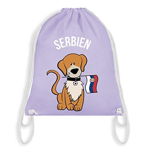 Fußball-Weltmeisterschaft 2018 Kinder - Fußball Serbien Hund - Unisize - Pastell Lila - WM110 -...