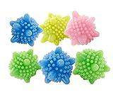 Waschball Trocknerbälle Weiche Wäsche Bällen Waschmaschine Laundry Bälle Wiederverwendbare 6 Stück