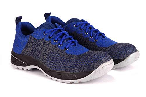 Udenchi UD2708 Industrial Safety Shoes With Steel Toe | Size - 8 UK, RoyalBlue