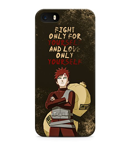 Naruto Selfish Gaara Quote Hard Plastic Snap On Back Case Cover For iPhone 5 / 5s Custodia