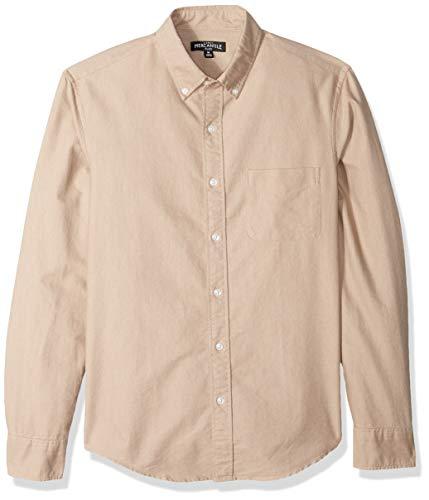 J.Crew Mercantile Herren Slim-Fit Long-Sleeve Solid Oxford Shirt Button Down Hemd, Desert Sand, X-Klein - Executive Long Sleeve Oxford Shirt