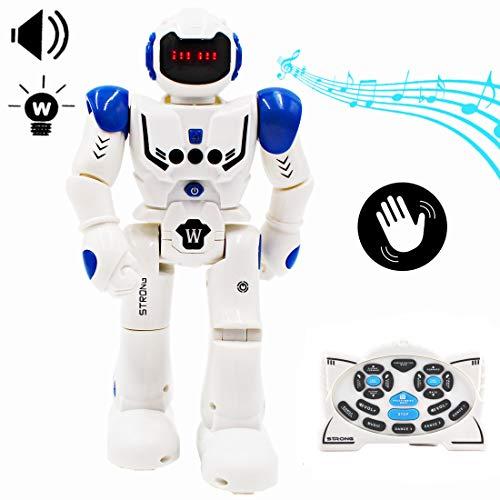 deAO Ferngesteuerter Spielzeugroboter Programmierbares Intelligenter Interaktiver Gestenerkennungs Roboter Tanzen,gehen, singen Intelligente Roboter funkferngesteuertes LED Roboter-Geschenk für Kinder