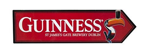 Guinness Toucan James Gate Road Sign-Aluminium Metall Wanddekoration Rot -