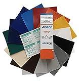 Abdeckhaub-Shop.de - Set di Riparazione per teloni di Camion, Sezione 50 x 50 cm, Dimensioni Toppe selezionabili, Facile da Tagliare e incollare, 14 Colori a Scelta
