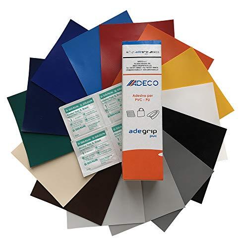 Abdeckhauben-Shop.de Reparatur - Set für LKW-Planen | Abschnitt in 50x50cm | Flickengröße selber bestimmen | Einfach zuschneiden & aufkleben | 14 Farben zur Auswahl (Alugrau) -