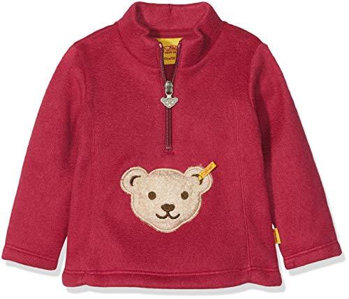 Steiff Baby-Mädchen Sweatshirt 1/1 Arm Fleece, Rot (Anemone|Red 2144), 74