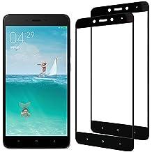 [2-Pack] Xiaomi Redmi Note 4 Cristal Templado, Nazzamo Xiaomi Redmi Note 4 Templado Vidrio Protector de Pantalla [Ultra-trasparente] [Sin Burbujas] [Resistente a Arañazos] [Cobertura completa] - Negro