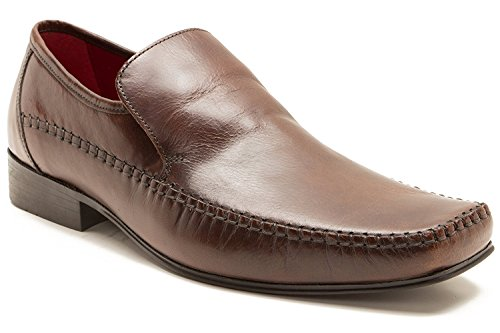 Red Tape by CLB Mocassins Pour Homme Marron