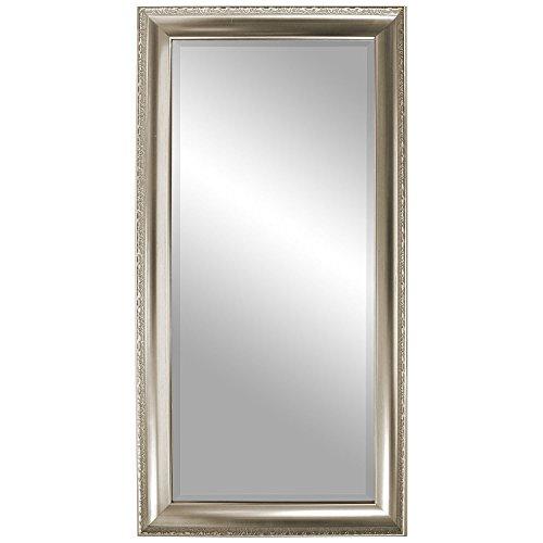 Zeitloser Wandspiegel Barspiegel Frisierspiegel Flurspiegel Garderobenspiegel Facettenspiegel Spiegel mit Facettenschliff  Verzierungen 101x51cm - Silbergold