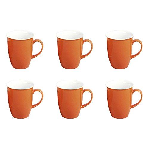 Flirt by Ritzenhoff & Breker Doppio Orange Kaffeebecher-Set 6tlg.