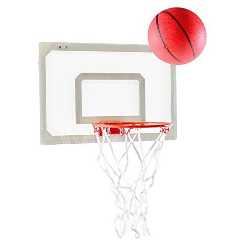 Basketballkorb Basketballboard Mini Hoop für Zimmer Basketballset inkl. Ball mit Pumpe für Tür und Wand für Büro Kinderzimmer (Basketball Hoop Klein)