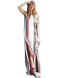 bff191e79471 Internet Donna Vestiti Bohemian Dress Senza Maniche Stampato Stile