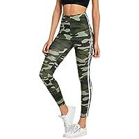 Leggings Damen Sweathose Slim Fit Stretch Freizeit Running Yoga Hosen Fashion Camouflage Enge Laufhose Sporthose Jogginghose Freizeithose Gamaschen