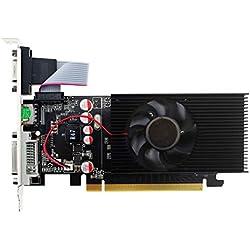 Topmore GT210 Cartes Graphiques DVI-I/HDMI/VGA 1GB GDDR2 64Bit Support PCI Express 2.0 GPU