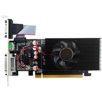 Topmore GT210 Tarjeta Gráfica Velocidad de Reloj del procesador: 266MHz~459MHz- (DVI-I/HDMI/VGA, 1GB, GDDR2, 64Bit PCI-Express 2.0)