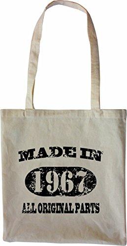 Mister Merchandise Tasche Made in 1967 All Original Parts 48 49 Stofftasche , Farbe: Schwarz Natur