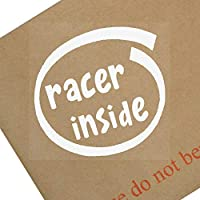 1 x Racer inside-window, coche, Van, adhesivo, señal, vehículo