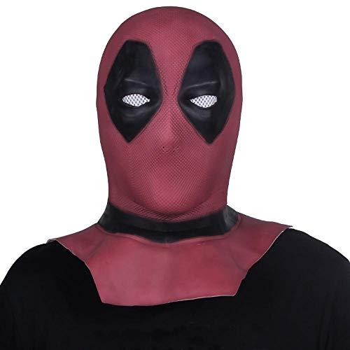 LXIANGP Latex Haube Halloween Kostüm Ball Cos Death Maske Bar Party Hood Dekoration Langen Abschnitt
