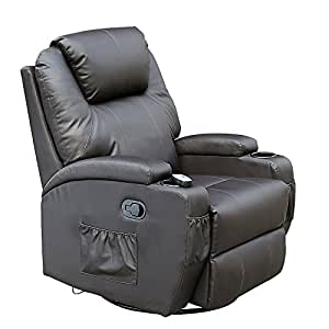 More4Homes CINEMO 9 In 1 Leather Recliner Chair Rocking Adjustable Headrest  Massage Swivel Heated Gaming Nursing Cinema (Brown): Amazon.co.uk: Kitchen  U0026 ...