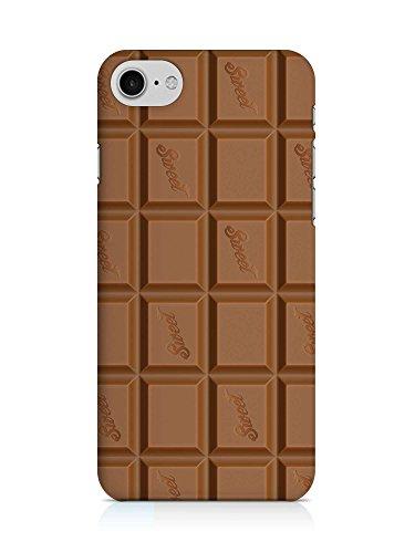 COVER Schokolade Schoko Tafel Handy Hülle Case 3D-Druck Top-Qualität kratzfest Apple iPhone 7 - 7'7 Schokolade