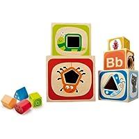 itsImagical Natural Blocks - Juego de cubos encajadles de madera, unisex