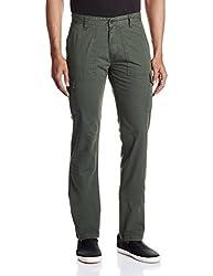 IZOD Mens Casual Trousers (8907163580276_ZKTR0085_30W x 34L_Olive)