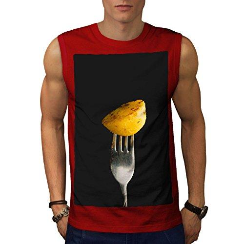 wellcoda Kartoffel Foto Küche Essen Männer XL Ärmelloses T-Shirt