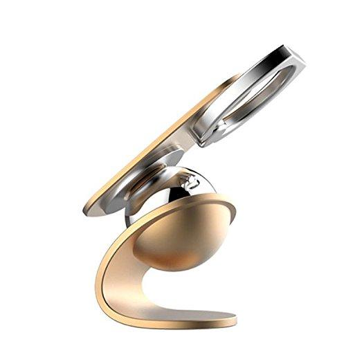 Handy-Magnethalter JIAMUSEN, 2 in 1 Handy-Halterung Fingerring Magnetic Mount Phone Stand für Handy-Standhalter für alle Größen Smartphones [iPhone 6 / 6S / 6 Plus / 7/7 Plus, Samsung & More]